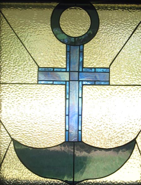 Stained glass--Anchor