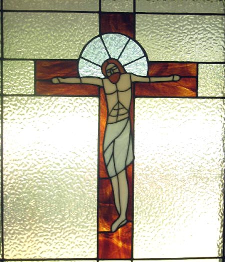 Stained glass--Crucifixion