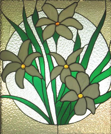 Stained glass--Easter lily