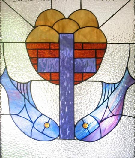 Stained glass--Fish