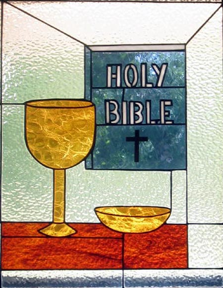 Stained glass--Holy communion