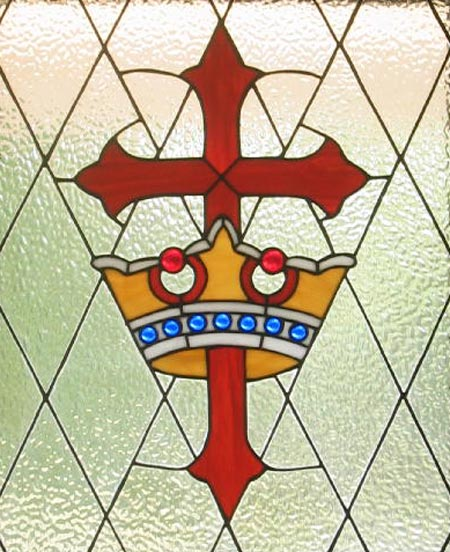 Stained glass--Jeweled cross