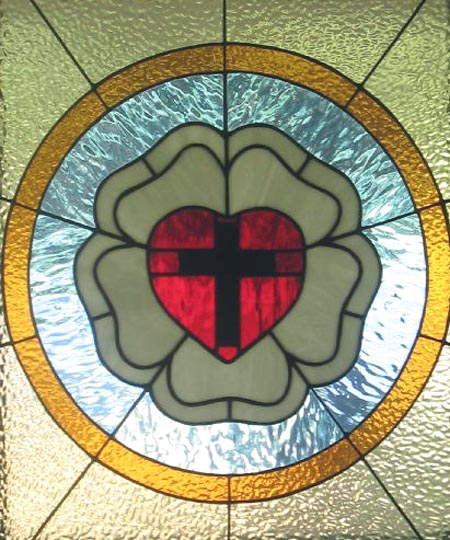 Stained glass--Luther seal