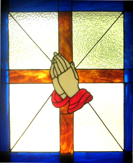 Stained glass--Prayer